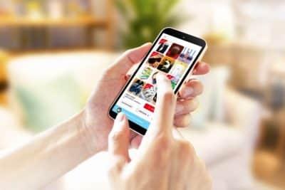 携帯電話でネットショッピング